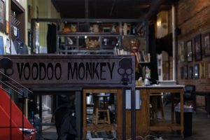 Voodoo Monkey Tattoo front of shop